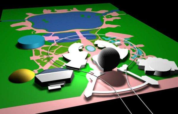 EPCOT Center 3D Render Model - 91601