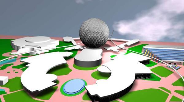 EPCOT Center 3D Render Model - Future World - 91601b