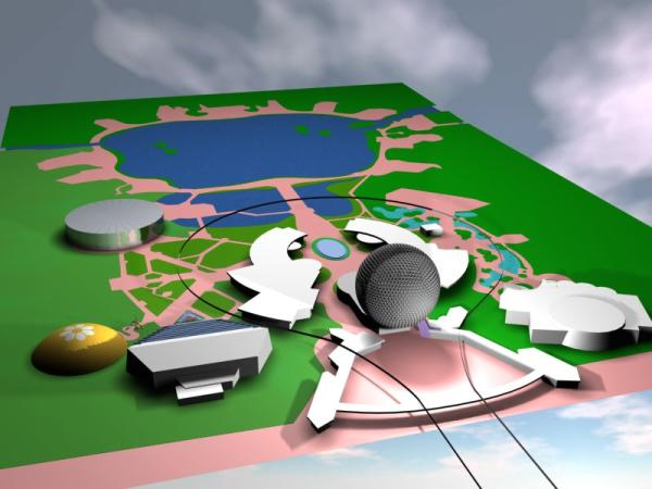 EPCOT Center 3D Render Model - 101401