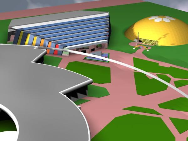 EPCOT Center 3D Render Model - Universe of Energy and Wonder of Life Pavilions - 102301b