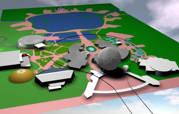 EPCOT Center 3D Render Model - 11701
