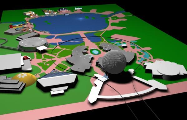 EPCOT Center 3D Render Model - 121801