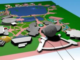 EPCOT Center 3D Render Model - 122301