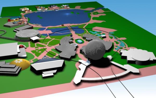 EPCOT Center 3D Render Model - 122301