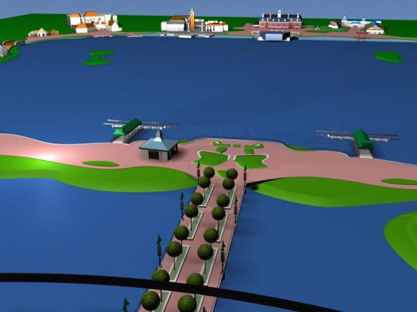 EPCOT Center 3D Render Model - Bridge to World Showcase - 122701