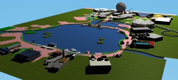 EPCOT Center 3D Render Model - 1602c