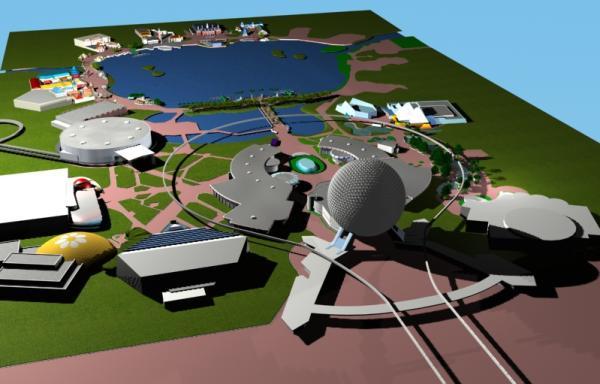 EPCOT Center 3D Render Model - 20902