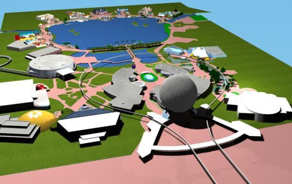 EPCOT Center 3D Render Model - 22402