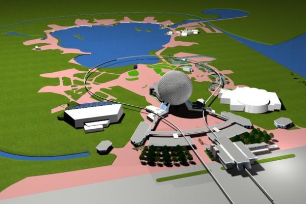 EPCOT Center 3D Render Model - 40302