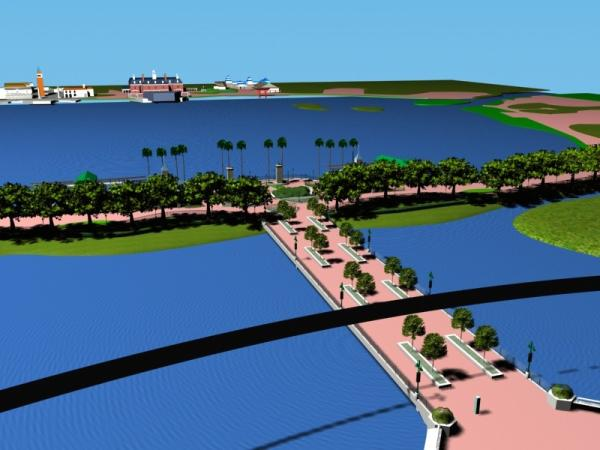 EPCOT Center 3D Render Model - Entrance to World Showcase 11302b