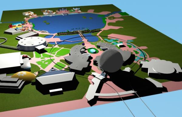 EPCOT Center 3D Render Model 11302c