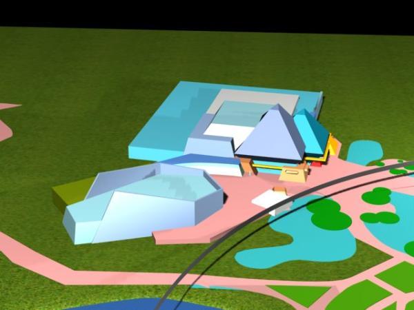 EPCOT Center 3D Render Model - Journey Into Imagination Pavilion 11902a