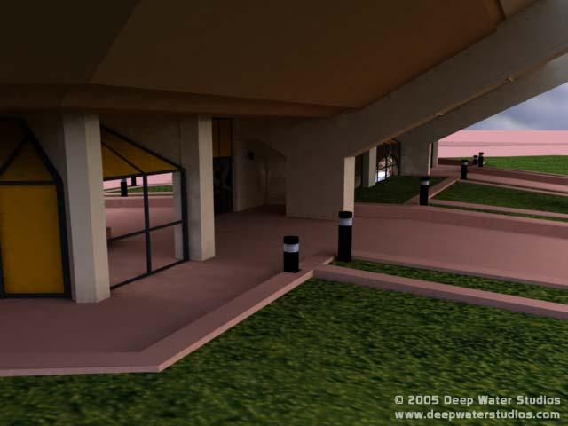EPCOT Center Horizons 3D Render - Entrance closeup 9-8-05b