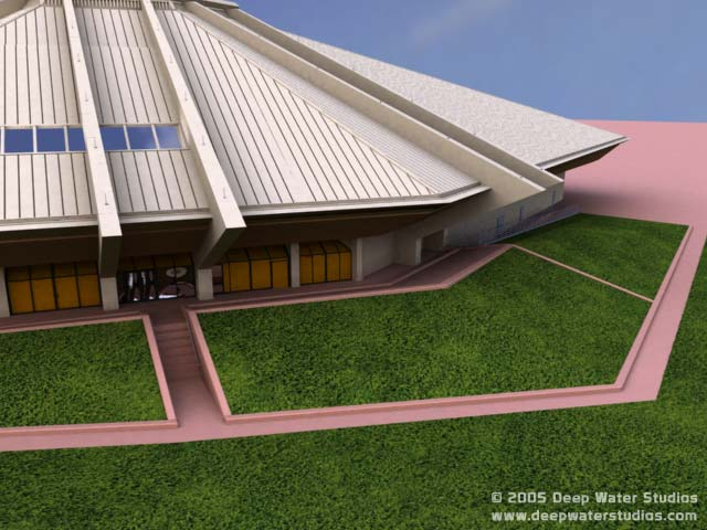 EPCOT Center Horizons 3D Project Render 9-8-05d - Exterior (VIP entrance)