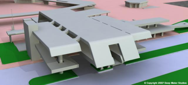 EPCOT Center Monorail Station test render 01