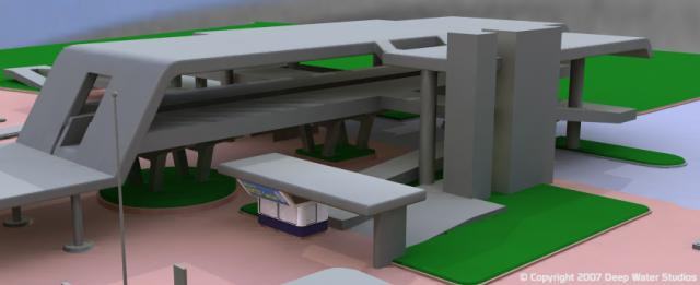 EPCOT Center Monorail Station test render 02
