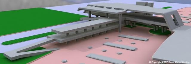 EPCOT Center Monorail Station test render 03