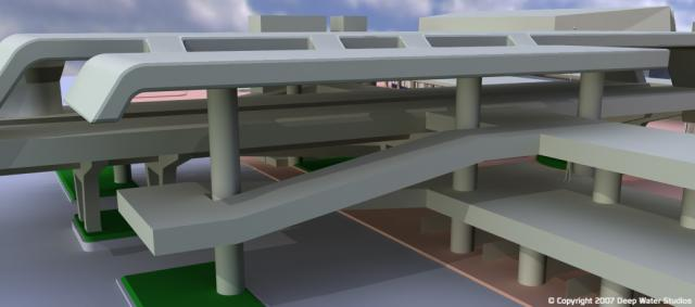 EPCOT Center Monorail Station test render 05