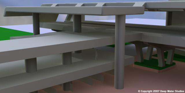 EPCOT Center Monorail Station test render 06