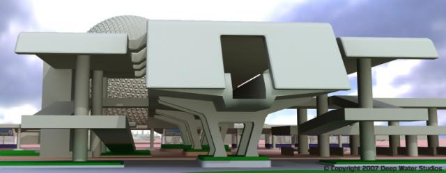 EPCOT Center Monorail Station test render 09