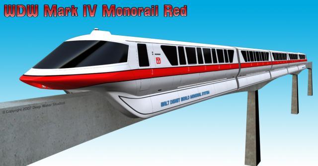Final Rendering Disney Mark IV Monorail model shot 1