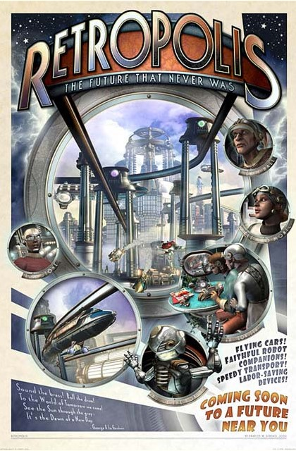 Retropolis Poster by Bradley W. Schenck