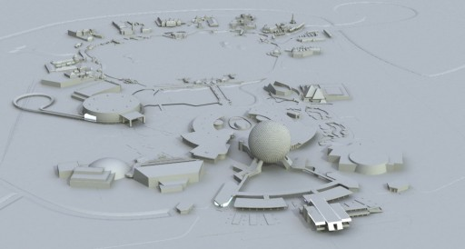 My EPCOT Center model - before the modifications