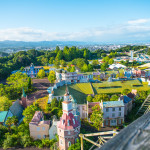 Overlooking the Nara Dreamland Park