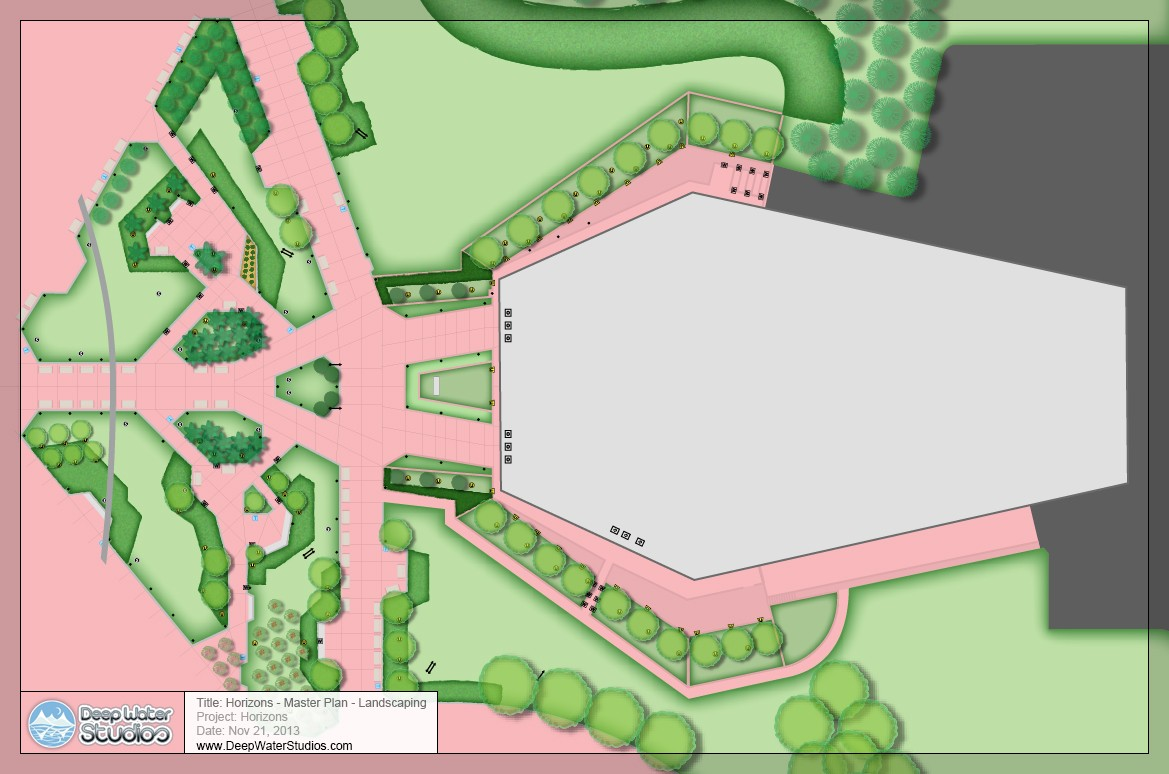 EPCOT Center's Horizons master landscaping plan