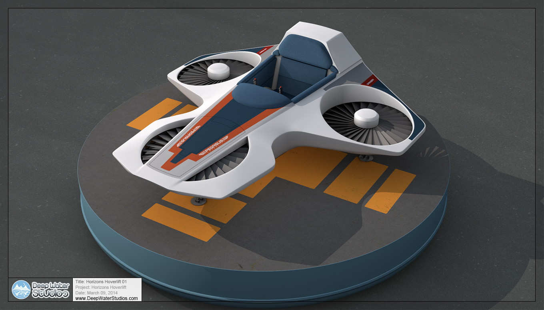 Epcot Horizons Hovercraft / Pegasus Hoverlift 3/4 shot